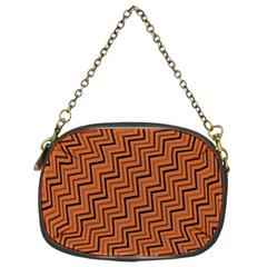 Brown Zig Zag Background Chain Purses (two Sides)  by BangZart