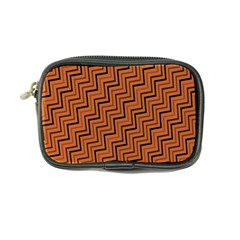 Brown Zig Zag Background Coin Purse