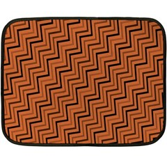 Brown Zig Zag Background Double Sided Fleece Blanket (mini)  by BangZart