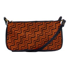 Brown Zig Zag Background Shoulder Clutch Bags