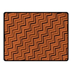Brown Zig Zag Background Fleece Blanket (small)