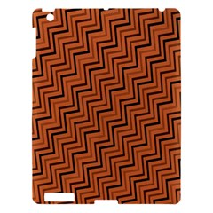 Brown Zig Zag Background Apple Ipad 3/4 Hardshell Case by BangZart