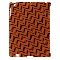 Brown Zig Zag Background Apple Ipad 3/4 Hardshell Case (compatible With Smart Cover) by BangZart