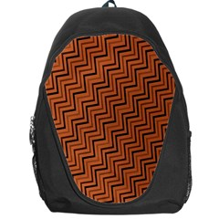 Brown Zig Zag Background Backpack Bag
