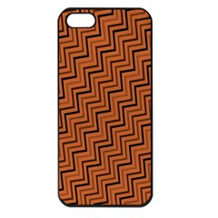Brown Zig Zag Background Apple Iphone 5 Seamless Case (black) by BangZart