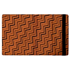 Brown Zig Zag Background Apple Ipad 3/4 Flip Case by BangZart