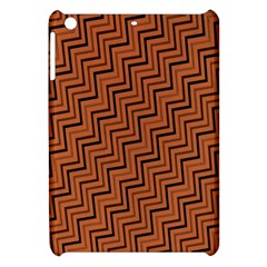 Brown Zig Zag Background Apple Ipad Mini Hardshell Case by BangZart