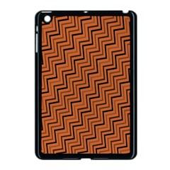 Brown Zig Zag Background Apple Ipad Mini Case (black) by BangZart