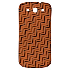 Brown Zig Zag Background Samsung Galaxy S3 S Iii Classic Hardshell Back Case