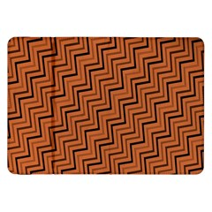 Brown Zig Zag Background Samsung Galaxy Tab 8 9  P7300 Flip Case
