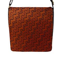 Brown Zig Zag Background Flap Messenger Bag (l)  by BangZart