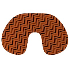 Brown Zig Zag Background Travel Neck Pillows by BangZart