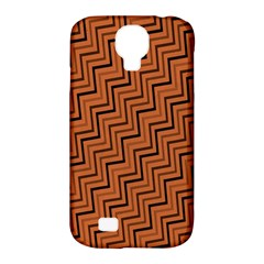 Brown Zig Zag Background Samsung Galaxy S4 Classic Hardshell Case (pc+silicone)