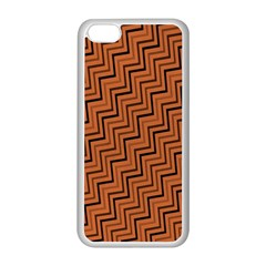 Brown Zig Zag Background Apple Iphone 5c Seamless Case (white) by BangZart