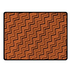 Brown Zig Zag Background Double Sided Fleece Blanket (small)  by BangZart