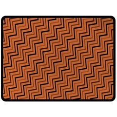 Brown Zig Zag Background Double Sided Fleece Blanket (large)  by BangZart