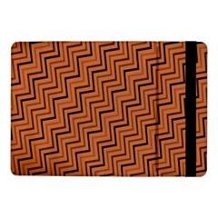 Brown Zig Zag Background Samsung Galaxy Tab Pro 10 1  Flip Case