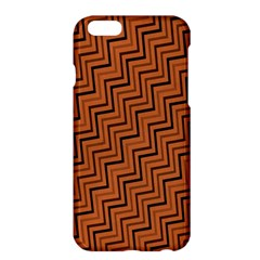 Brown Zig Zag Background Apple Iphone 6 Plus/6s Plus Hardshell Case