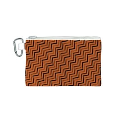 Brown Zig Zag Background Canvas Cosmetic Bag (s) by BangZart