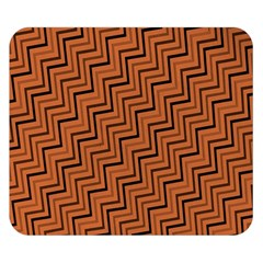 Brown Zig Zag Background Double Sided Flano Blanket (small)