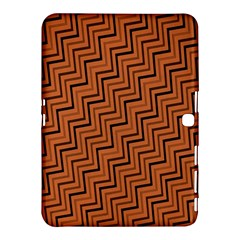 Brown Zig Zag Background Samsung Galaxy Tab 4 (10 1 ) Hardshell Case