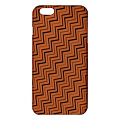 Brown Zig Zag Background Iphone 6 Plus/6s Plus Tpu Case by BangZart
