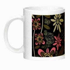 Flower Art Pattern Night Luminous Mugs by BangZart