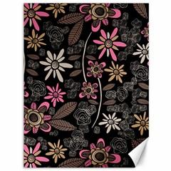 Flower Art Pattern Canvas 36  X 48   by BangZart