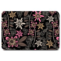 Flower Art Pattern Large Doormat  by BangZart
