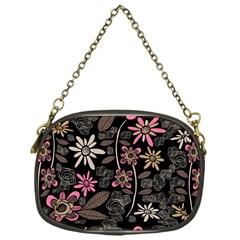 Flower Art Pattern Chain Purses (one Side)  by BangZart