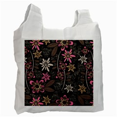 Flower Art Pattern Recycle Bag (two Side)
