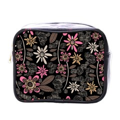 Flower Art Pattern Mini Toiletries Bags by BangZart