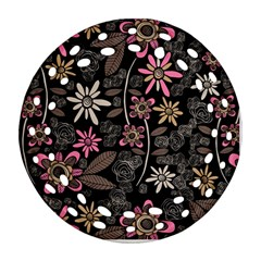 Flower Art Pattern Round Filigree Ornament (two Sides) by BangZart