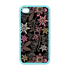 Flower Art Pattern Apple Iphone 4 Case (color) by BangZart