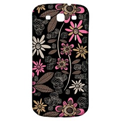 Flower Art Pattern Samsung Galaxy S3 S Iii Classic Hardshell Back Case by BangZart