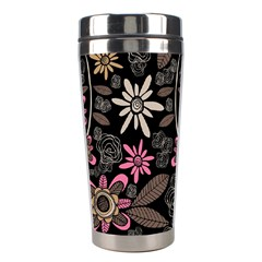 Flower Art Pattern Stainless Steel Travel Tumblers by BangZart