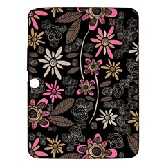 Flower Art Pattern Samsung Galaxy Tab 3 (10 1 ) P5200 Hardshell Case
