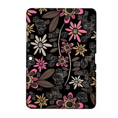 Flower Art Pattern Samsung Galaxy Tab 2 (10 1 ) P5100 Hardshell Case
