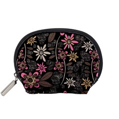 Flower Art Pattern Accessory Pouches (small)