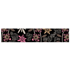 Flower Art Pattern Flano Scarf (small)