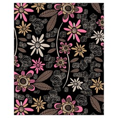 Flower Art Pattern Drawstring Bag (small) by BangZart