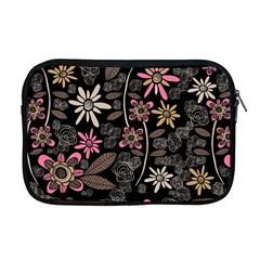 Flower Art Pattern Apple Macbook Pro 17  Zipper Case