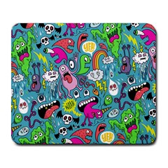 Monster Party Pattern Large Mousepads