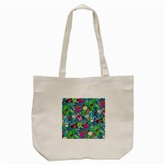 Monster Party Pattern Tote Bag (cream) by BangZart