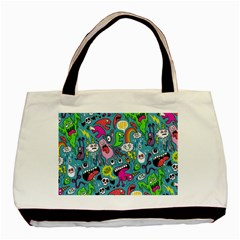 Monster Party Pattern Basic Tote Bag by BangZart