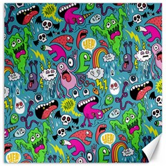 Monster Party Pattern Canvas 16  X 16   by BangZart