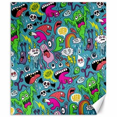 Monster Party Pattern Canvas 20  X 24   by BangZart