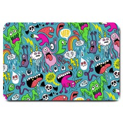 Monster Party Pattern Large Doormat  by BangZart