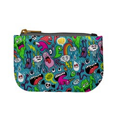 Monster Party Pattern Mini Coin Purses