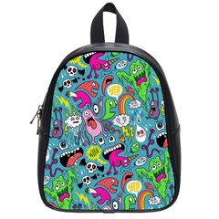 Monster Party Pattern School Bags (small)  by BangZart